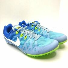 Nike Womens Rival M Mid Distance Track Shoes Spikes 806559 401 Size 8.5 Blue
