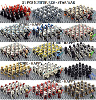 21/22 Pcs Minifigure Star Wars Clone Trooper Captain Rex Palpatine Army Lego MOC