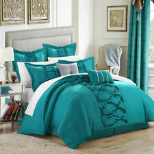 Chic Home Ruth Ruffled Comforter Bed In A Bag Set Microfiber