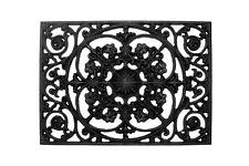 LANG 110 x 33 cm Fußmatte Fussabtreter Türmatte Gusseisen Schwarz Garten NR 1