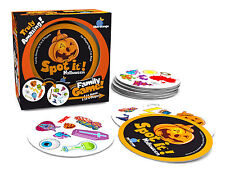 Spot It! Halloween Special Edition Family Party Card Game Blue Orange Matching