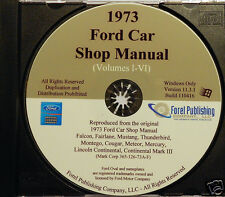 1973 Ford Car Shop Manual Vol I-VI (CD-ROM)
