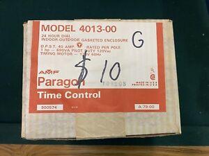 4013-00 AMF Paragon ELECTRIC TIMER 24-Hour 1 HP 120V AC 40A Pilot Duty NEW