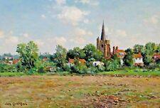 JEAN KEVORKIAN, Listed French, Landscape, Wingham Kent, England, was $7850
