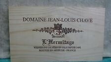 DOMAINE JEAN LOUIS CHAVE L HERMITAGE FRANCE WOOD WINE PANEL END