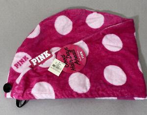 NWT Victoria's Secret PINK Towel Hair Wrap Turban Button Closure