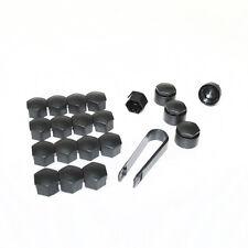 17mm Plástico Negro Rueda de coche TUERCAS PARA PEUGEOT 208 308 408 cubiertas