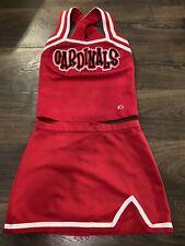 Cardinals GTM Red Cheer Uniform Top Small Skirt Medium