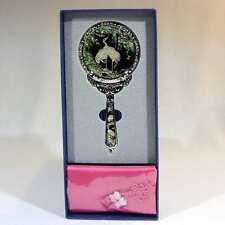 Korean Mother of Pearl Hand Mirror with Crane Design
