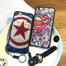 CAPTAIN AMERICA SUPERMAN SOFT BACK CASE COVER FOR APPLE IPHONE 5 6 6S 7 8 PLUS