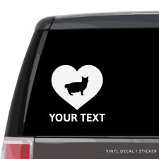 American Bobtail Cat Silhouette Heart Vinyl Sticker / Car Window Decal, laptop