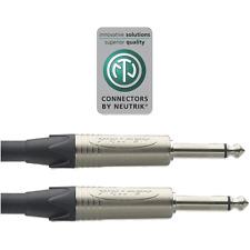 1 Câble Jack 6,35 Mono Male vers Jack 6.35 Mono Mâle Long 9 Métres Neutrik XGC