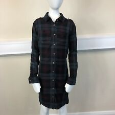 River Island Girls Red Grey Black Checked Long Sleeved Dress UK Age 10 Years