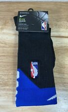 Nike Elite Quick NBA Basketball Dri Fit Mens Crew Socks Medium 6-8 Black Blue