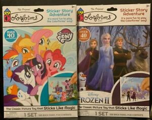 Colorforms Disney Frozen II & My Little Pony Sticker Story 2-pack New
