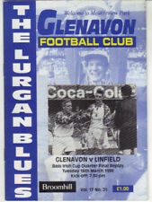 1998/99 Glenavon v Linfield - Irish Cup - 16th Mar - Vol 17 No 21