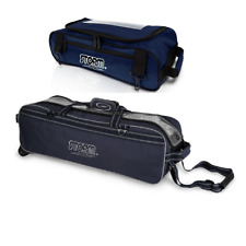 Storm 3 Ball Tournament Tote Bowling Bag With Tow Wheels & Shoe Pocket Navy