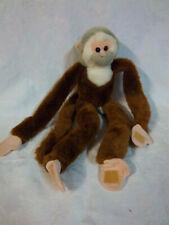"Wild Republic 17"" Hanging Monkey Gray Head Plush Soft Toy Stuffed Animal"