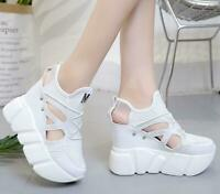Womens Peep Toe High Wedge Heel Sandals Platform Creeper Summer Sport Shoes US
