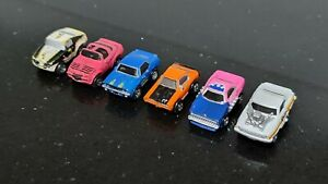 Micro Machines Muscle Cars Camaro Pontiac Trans-Am GTO Drag Car Lot of 6
