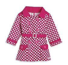 American G 00004000 irl Rainy Day Coat + Charm Nib Polka Dot Raspberry