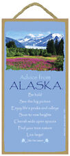 Advice From Alaska wood Inspirational Sign wall hanging Novelty Plaque state New
