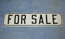 "Vtg ""For Sale"" Embossed 12"" Aluminum Sign Garage/House/Store/Man Cave S456"
