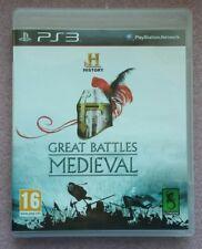 great battles medieval gioco ps3 in italiano completo pal ita per collezionisti