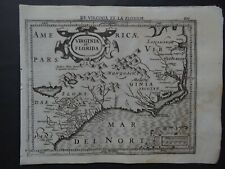 1608 HONDIUS Mercator  Atlas map  VIRGINIA et FLORIDA - United States America
