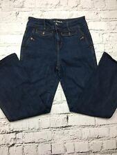 KAREN MILLEN Blue Washed High Waisted Bootcut Denim Jeans Size 12