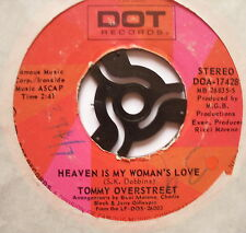 "TOMMY OVERSTREET - Heaven Is My Woman's Love - Ex Con 7"" Single Dot DOA-17428"