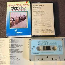 BLONDIE AutoAmerican DEBBIE HARRY JAPAN CASSETTE ZR25-537 w/SLIP CASE+INSERT