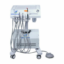 Greeloy Portable Mobile Dental Delivery Unit Cart System With Air Compressor