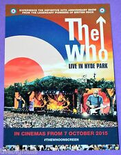 THE WHO Promo Postcard LIVE IN HYDE PARK  new