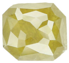 Natural Loose Diamond Greenish Yellow Color Radiant I3 Clarity 0.77 Ct KR619