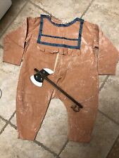 Handsewn American INDIAN SOUTHWESTERN Costume Velour Toddler 1-2 years