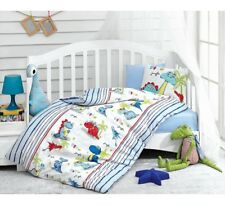 Crib Bedding Baby Boys 4pcs Bedding Set %100 Turkish Cotton DINOSAURS