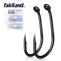 50/100pcs Fishing Hooks High Carbon Steel Strong Sharp Barbed Black Angling Hook