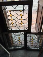 Sg 1111 Three Available Price Separate Antique Leaded Glass Stained Windows