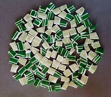 114 Two-Tone Green And White Mosaic Tiles
