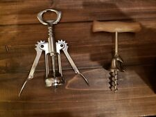 Two Vintage Italy Chrome Plated Corkscrews
