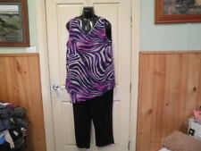 "BLACK/PURPLE ""SWIRL"" JUMPSUIT SZ 20-NEW-AUTOGRAPH RRP$99.99 NEW STOCK JUST IN!!"