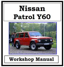 NISSAN PATROL GQ Y60 1988 - 1997 WORKSHOP MANUAL DIGITAL DOWNLOAD
