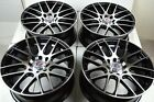"4 New DDR Haze 17x7 4x100/114.3 35mm Black/Polished 17"" Wheels Rims"