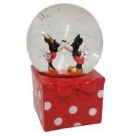 Disney Snow Globe Xmas Mickey & Minnie Mouse Kissing Primark Christmas Edition