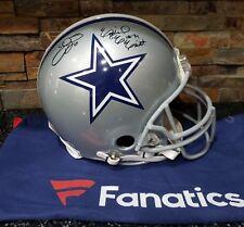 Emmitt Smith & Ezekiel Elliott Autographed Proline Cowboys Helmet Fanatics
