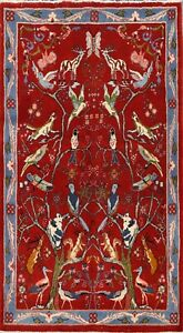 Floral Traditional Animal Design Hand-knotted Area Rug Wool Oriental Carpet 3x5