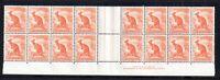 Australia 1/2d Roo Gutter Pair MNH block 1937-48 WS16402