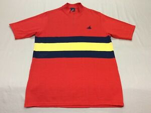 VINTAGE CANNONDALE RED STRIPED 50/50 CYCLING RACING JERSEY MENS ADULT LARGE