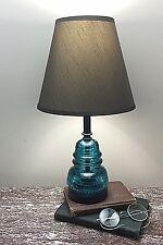 Glass Insulator Lamp - Hemingray Antique Glass Lamp - Rustic / Primitive Lamps
